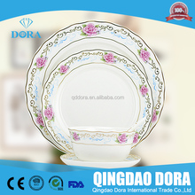 Fine bone china used restaurant white dinnerware wholesale