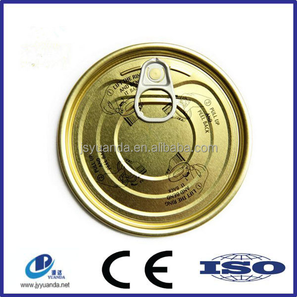 Tin can easy open end/easy open tin lid/metal cover
