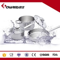 2016 Chuangsheng High quality 5 Pcs Stainless Steel Cookware Set