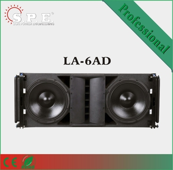 LA-6AD SPE dual 15 Inch Two Way Active powered speaker/ Line Array/ empty line array cabinet for sale