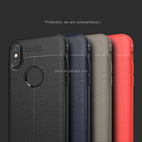 Soft tpu litchi stria leather grain back phone case for samsung galaxy note 8, for iphone 8 tpu back cover case