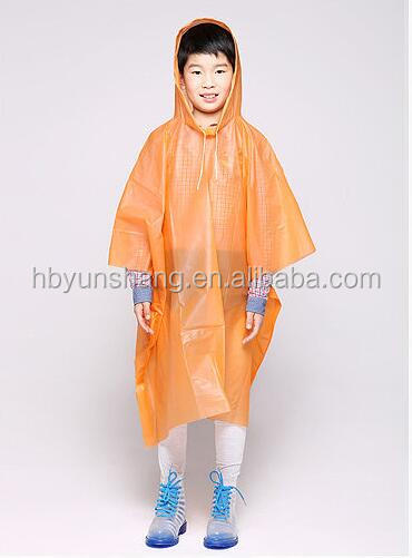 wholesale Disposable PE/EVA/PEVA/PVC Kids cartoon clear raincoats children's rain poncho