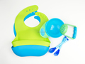Baby Feeding Set: Suction Baby Bowl + Mash Bowl + Spoon + Bib, Customized Packaing, Private Labeling