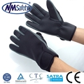 NMSAFETY Fishing hand glove/PU Leather Sewing Mechinest Glove/sport hand protection gloves