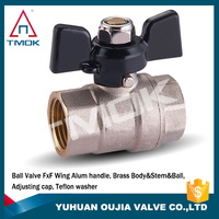 CE Certification High Quanlity Brass Ball Valve Price 600 Wog Brass Ball Valve usa with Butterfly Handle