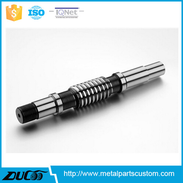 customize high precision polishing Reducer worm shaft <strong>gear</strong> castings from China supplier