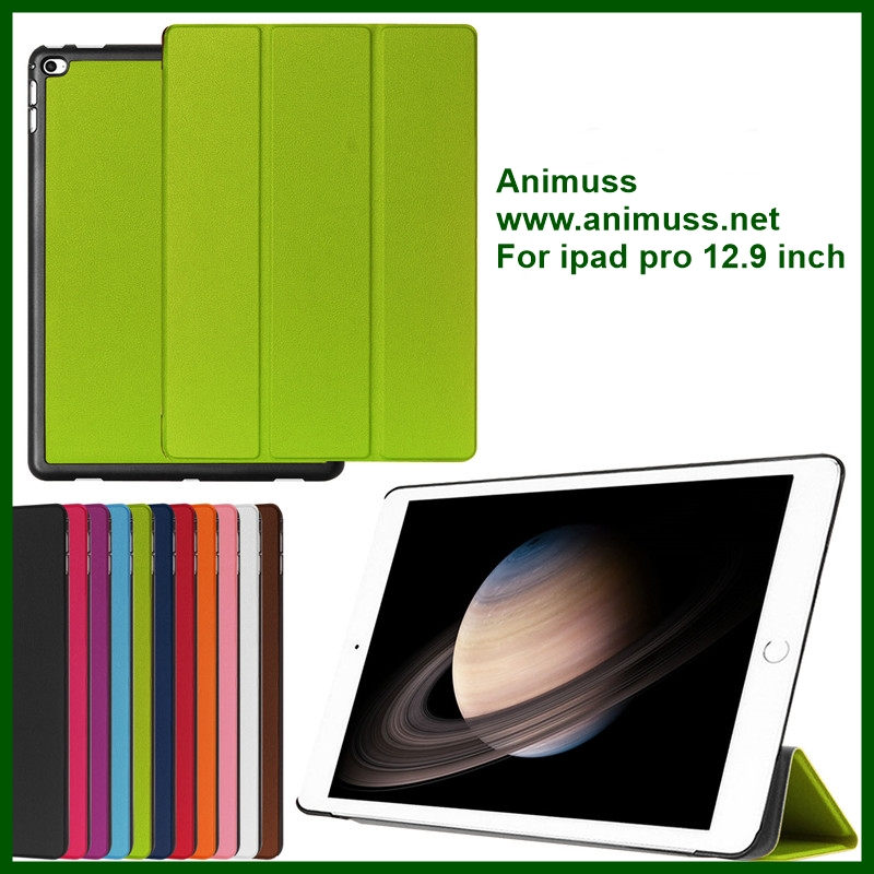 Wholesale price slim stand Foldable Protective tablet shell skin Case Cover screen protector for ipad pro 12.9 inch