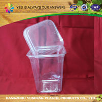 Disposable non-toxic clear plastic food cylinder packaging
