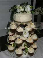 4 tier clear acrylic round cupcake display stand