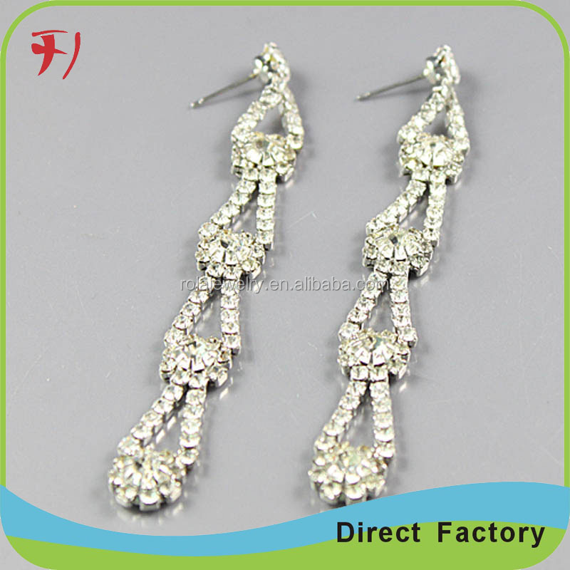 Fashion Europe and United States Style Large Earrings Water Drop Gold Earrings