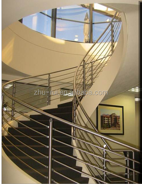indoor aluminium stainless steel stair railings/outdoor stair balustrades /balcony railing design