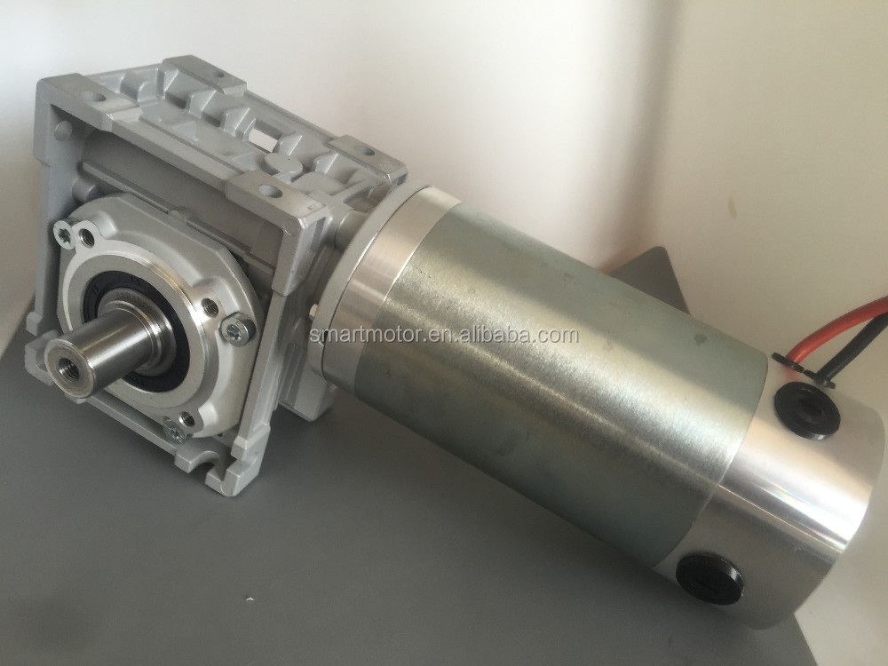 90mm Large Torque Big Power DC Electric Worm Gear Motor, with Worm Gearhead