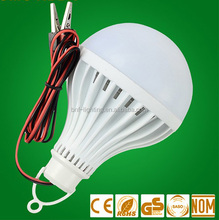 3w 5w 7w 9w 12w 15w 12V DC LED BULB A19 with clip