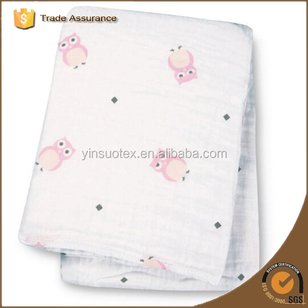 Muslin Baby Blanket Embroidery Patterns, Printed Baby Blanket