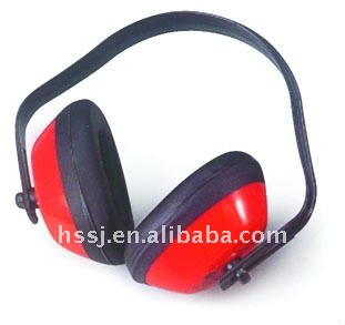 2017 hot selling fold red ear muffs economic noise cancelling plastic hearing protection ear muffs