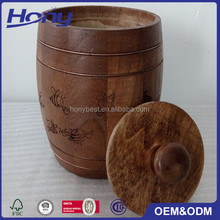 Custom Small Size Wood Gift Bottle Barrels for Honey,Candy,Chocolate,Coffee