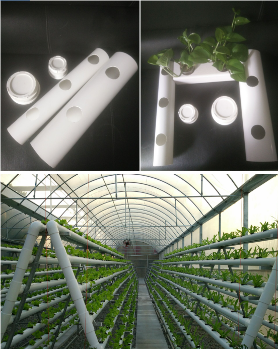 Hot sales Round type 110mm diameter NFT hydroponic system PVC pipe