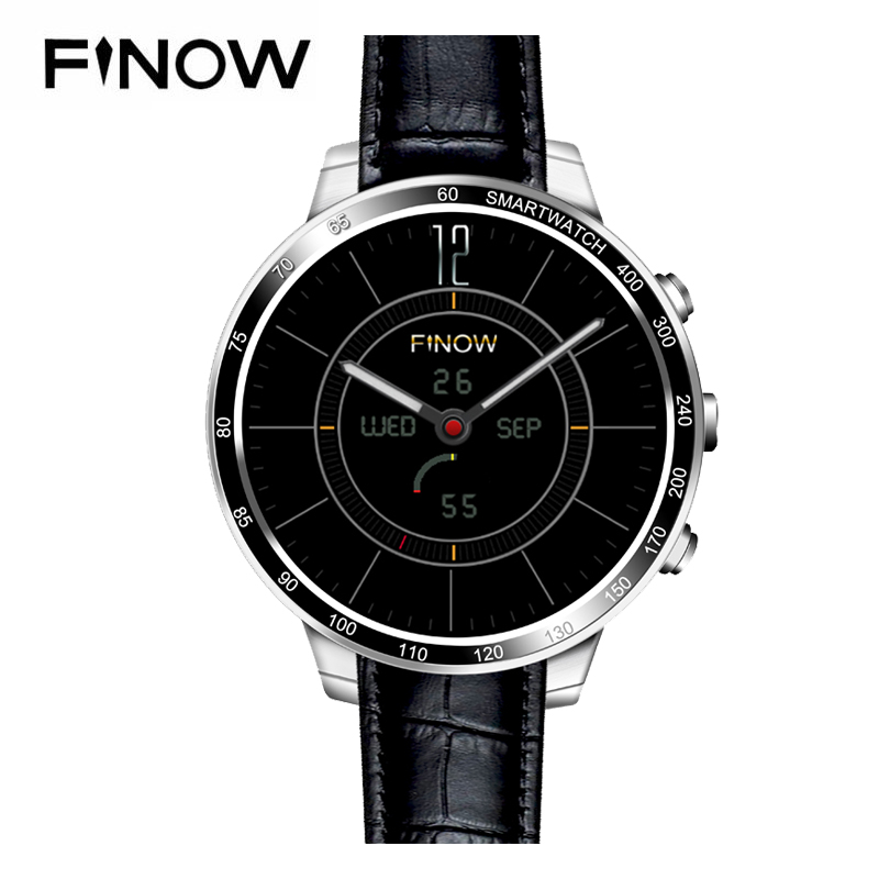 2017 Newest Finow Q7 plus Smart Watch Android 5.1 MTK6580 3G Wifi Bluetooth With Camera SIM / TF Card For Android <strong>Phone</strong>