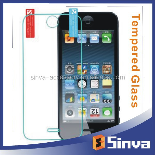 Newest Mirror Effect Colorful Tempered Glass Screen Protector for iPhone5 with best factory price