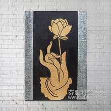 Modern art design abstract flower buddha oil painting