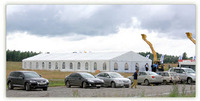 Gable roof tent conferences Use