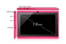 Allwinner A33 Quad core 1.2GHz + 512MB RAM + 4GB + 5 points touch capacitive screen800*480 + WiFi 7 inch tablet pc