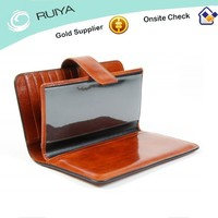 High Quality Fashion Good Workmanship Credit Card Leather Cheque Book Holder Wallet