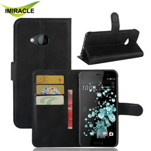 Wholesale Lychee Pattern Wallet Leather Stand Flip Case For HTC U Play Protective Phone Bag Cover