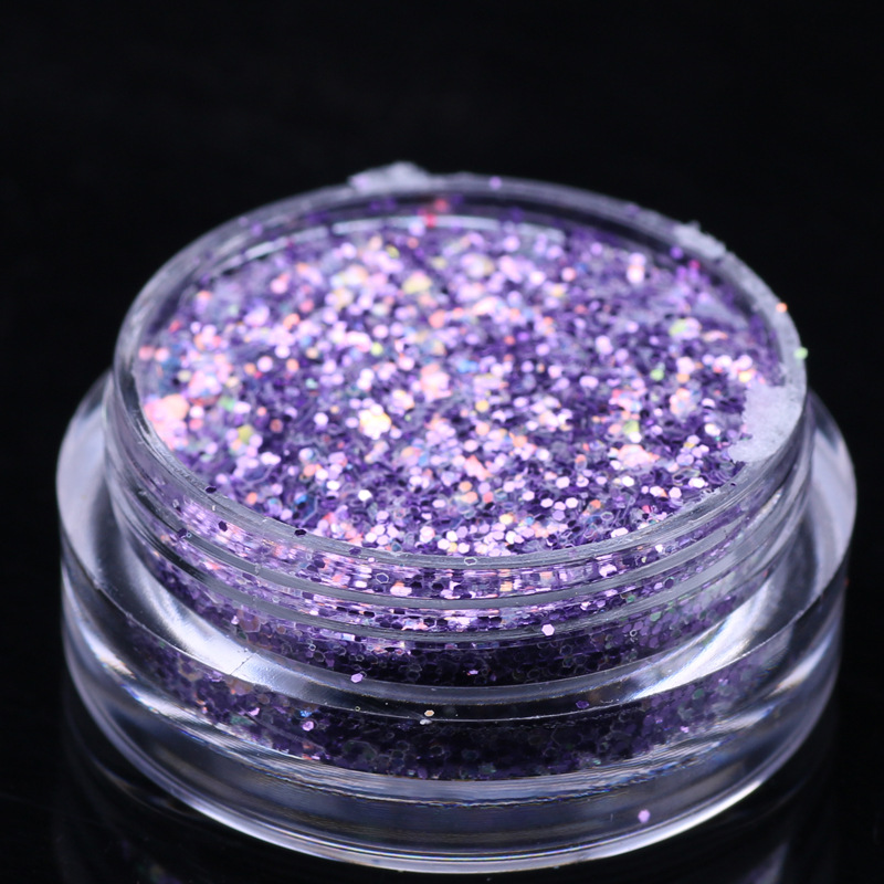 Hot sale flash color mixture glitter Sequins special shape flakes for 3d nail art decoration set
