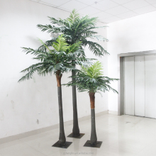 3pcs one set fake coconut tree factory direct cheap artificial coconut palm tree for indoor decoration