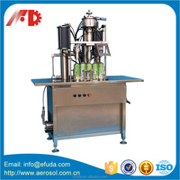 800-1200 cans/hour semi automatic aerosol can filling machine/aerosol cans filling