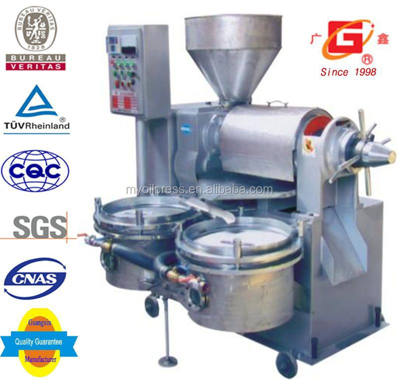 Small family&refinery use automatic heating and filter combined soybean seeds oil press