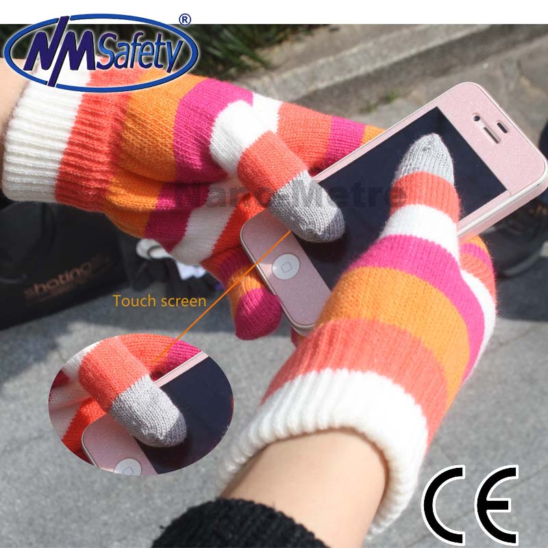 NMSAFETY smartphone gloves material for iphone ipad in winter