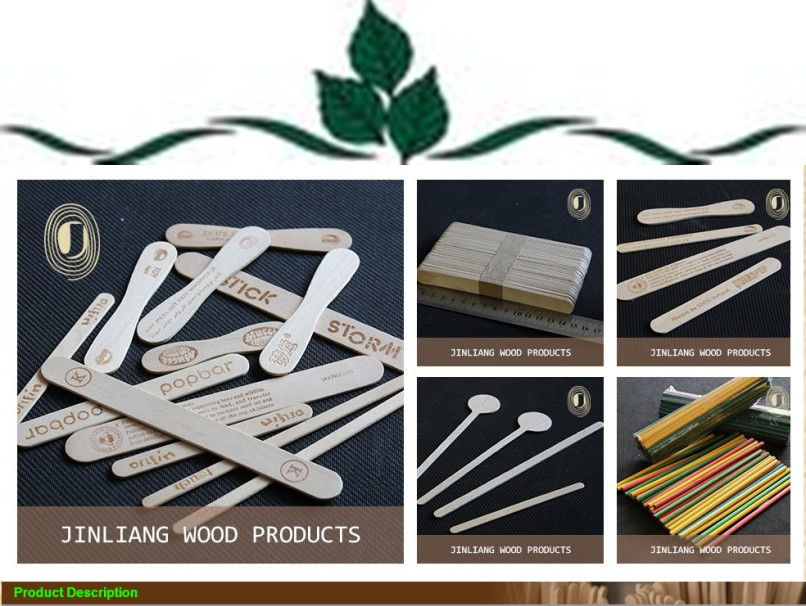 AAAAA+Factory wooden custom flavored coffee stirrers / drink stirrers