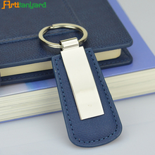 High Quality blank pu leather Car Key Chain