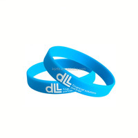 Wholesale debossed with color filled silicone wristband,Debossed wrist bands for sell