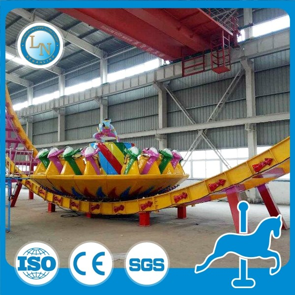 cheap selling amzing kids game amusement park rides equipment flying disco UFO ride