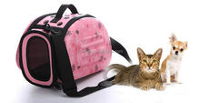 Factory cheap good outside sport travel convenient folding fabric dog cat bag. EVA pet carrier bag