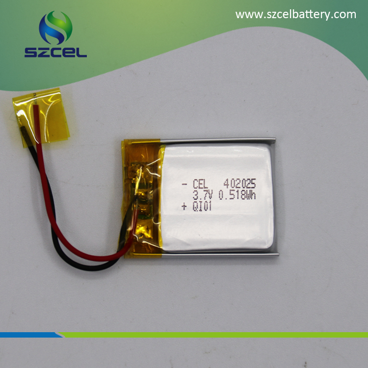 Deep recycle lipo battery 3.7V 402025 140mAh rechargeable high effeiciency LiCoO2 battery