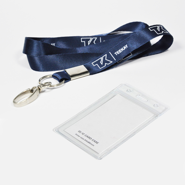 Promo custom polyester lanyard with card holder