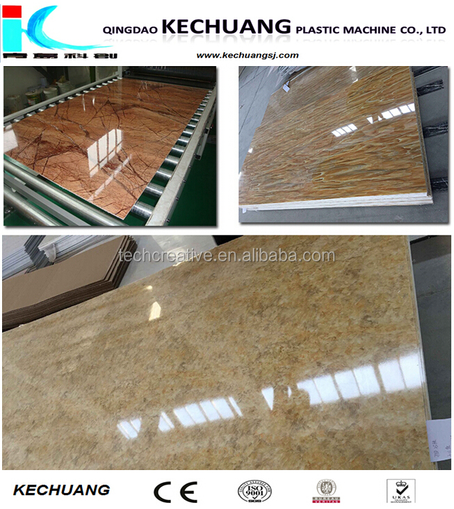 PVC WPC artificial marble decoration sheet board panel extrusion production extruder line