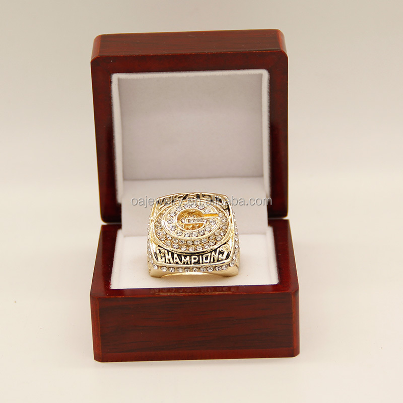 rhodium plated world series state champions rings football customs rings