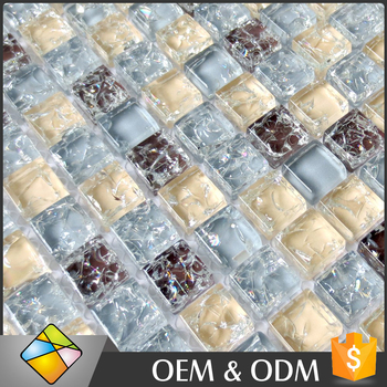Foshan Manufacturer Wall&Floor Glass Mosaic Tile