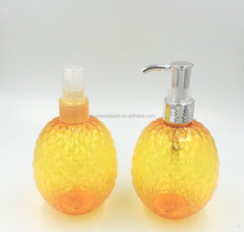 300ml plastic hand wash glass crystal spray pump bottle