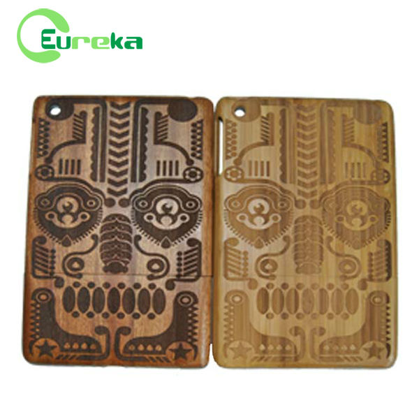 New arrival shockproof engraved tablets cover wood for IPad mini