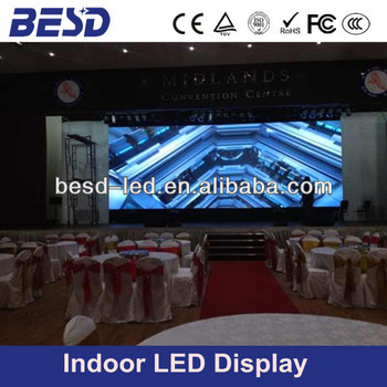 2015 popular led screen indoor P6 SMD full color led video wall, stage background led display screen