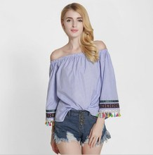 sh10185a 2017 Latest fashion women blouse design long sleeve tops for women