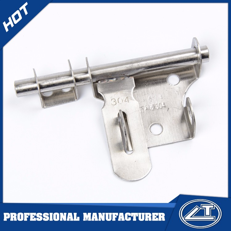 Supply all kinds of T type tower bolt Stainless steel security door bolt