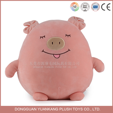 15cm spandex soft squeaky pink stuffed toy factory price