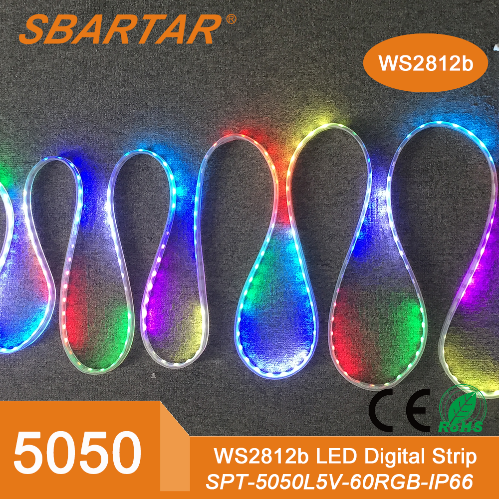 Led strip 5050 dc 12v rgb led strip non-waterproof 60leds/m 5m/lot 300 led tape strips lamp smd 5050 flexible led